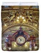 Clock At Le Train Bleu Duvet Cover