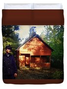 Closing The Cabin For Winter Duvet Cover