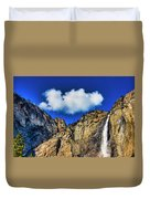 Clouds Abover Upper Yosemite Fall Duvet Cover
