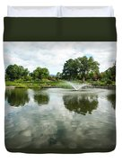 Clouds On Ashley Pond Duvet Cover