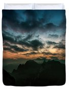 Clouds Over Mountains Duvet Cover
