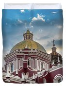 Clouds Over Puebla Cathedral Duvet Cover