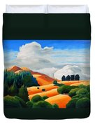 Clouds Over Windy Hill Duvet Cover
