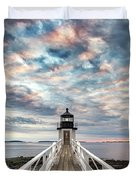 Cloudy Skies At Marshall Point Duvet Cover