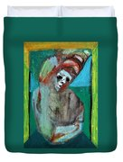Clown At A Table Duvet Cover