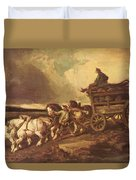 Coal Cars 1822 Duvet Cover
