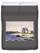 Coast Guard Station  Two Lights  Maine  Duvet Cover