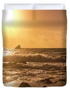 Coastal Sunrise Silhouette Duvet Cover