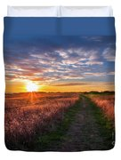 Coastline Footpath To Sunset Duvet Cover