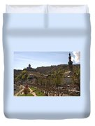 Cochem Castle And Town On Mosel In Germany Duvet Cover