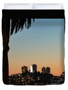 Coit Tower Twilight Duvet Cover
