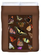 Collage Of Ca Butterflies Duvet Cover