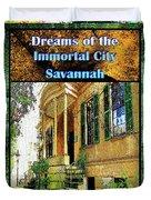Collectible Dreaming Savannah Book Poster Duvet Cover