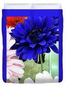 Color-faux Blooms Duvet Cover by Rick Locke