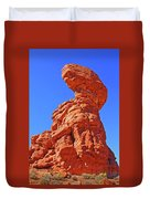Colorado Arches Spire Scrub Dinosaur Rock? Scrub Blue Sky 3325 Duvet Cover