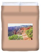 Colorado National Monument Spires Rock Formations 3012 Duvet Cover