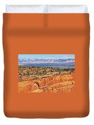 Colorado National Monument Trees Rock Formations 3087 Duvet Cover