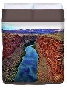 Colorado River From The Navajo Bridge 001 Duvet Cover