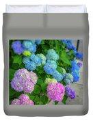 Colorful Hydrangeas Duvet Cover