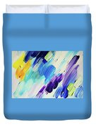 Colorful Rain Fragment 1. Abstract Painting Duvet Cover