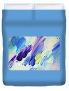 Colorful Rain Fragment 2. Abstract Painting Duvet Cover