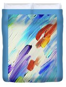 Colorful Rain Fragment 3. Abstract Painting Duvet Cover