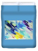 Colorful Rain Fragment 5. Abstract Painting Duvet Cover
