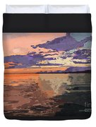 Colorful Sunset Over The Gulf Of Mexico Duvet Cover