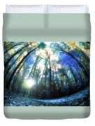 Colorful Trees Ix Duvet Cover