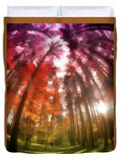 Colorful Trees Vii Duvet Cover