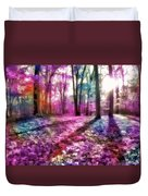 Colorful Trees Xii Duvet Cover