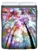 Colorful Trees Xiii Duvet Cover