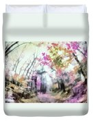 Colorful Trees Xiv Duvet Cover