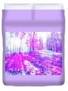Colorful Trees Xv Duvet Cover
