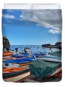 Colourful Boats Duvet Cover