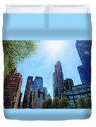 Columbus Circle At Mid Day Duvet Cover