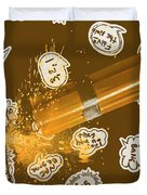 Comical Charge Duvet Cover