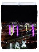 Coming And Going In The Heart Of L A At Night-time Duvet Cover