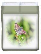 Common Checkered Skipper Butterfly  Duvet Cover