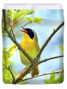 Common Yellowthroat Singing His Little Heart Out Duvet Cover