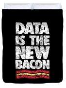 Computer Big Data Bacon Geek Pun Apparel Duvet Cover