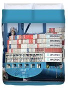 Container Ship Duvet Cover