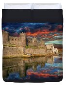 Conwy Castle Sunset Duvet Cover by Adrian Evans