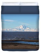 Cook Inlet And The Alaska Range From Ninilchik Duvet Cover