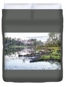 Coosaw - Early Morning Rice Field Duvet Cover