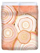 Coral Agate Abstract Duvet Cover