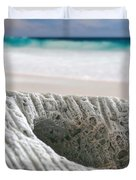 Coral By The Sea Duvet Cover