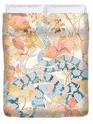 Coral Spring Garden Duvet Cover