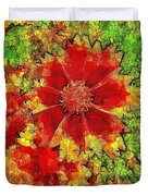 Coreopsis Abstract Duvet Cover