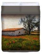Corn Poppies Duvet Cover by Okan YILMAZ